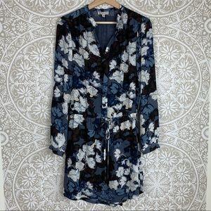 Lila Rose Blue Floral Dress